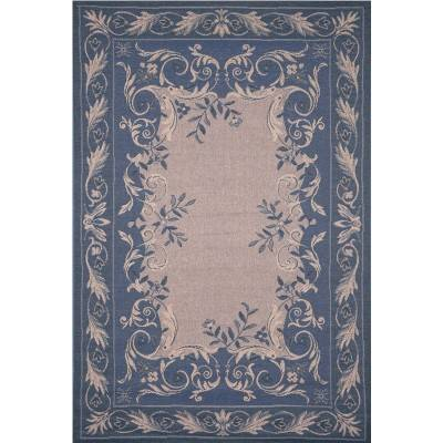 Tropez Aubusson Blue Outdoor Rug