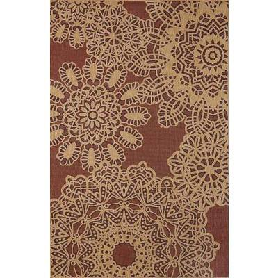 Tropez Crochet Red Outdoor Rug