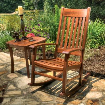 Charleston Outdoor Brazilian Cherry Rocking Chair